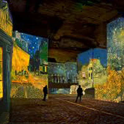 The Carrières de Lumières by bike